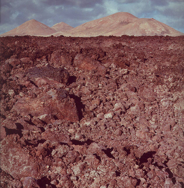 Young Lava on the Canarie Island Lanzarote